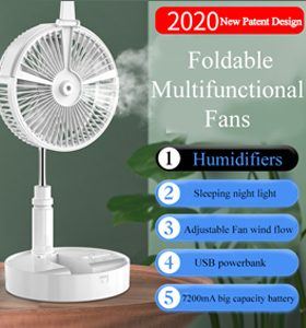 Foldable Multifunctional Fans (2020 New Patent Design)