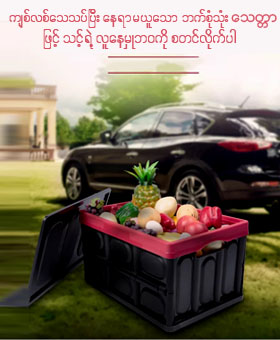Car Backtrunk foldable organizer