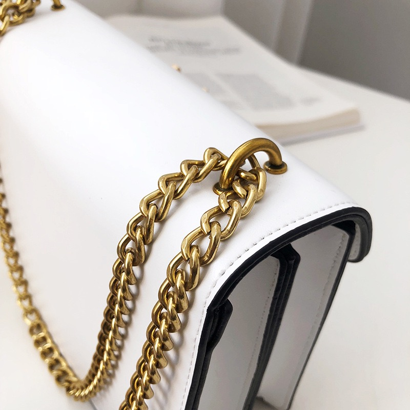 Leather Chain Bag Branded Logo