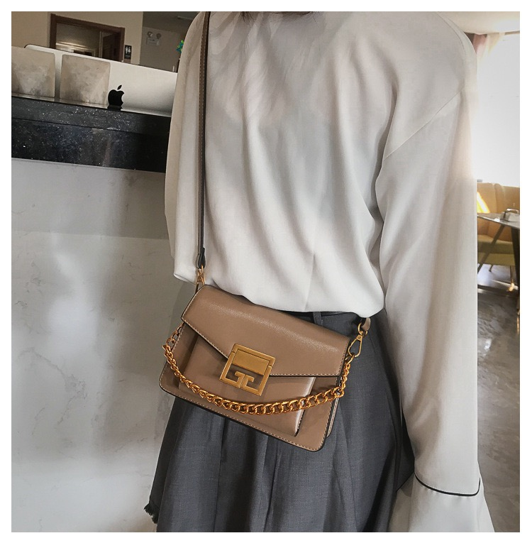 Leather chain bag