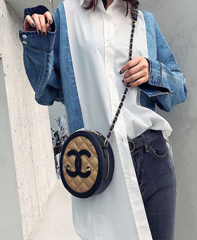 Leather Chain Bag Branded Logo New