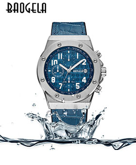 Baogela Men's Watches Military Waterproof Chronograph Luxury