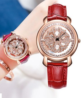 Nakzen Woman Rotating Lucky Diamond Watch
