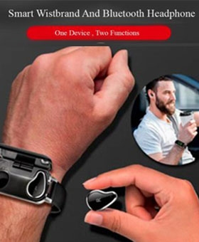 Smart Watch With Earphone