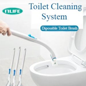 Disaposal Toilet Cleaner Towel & Brush 2in1