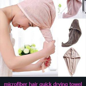Microfiber hair quick drying towel