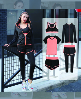 Gym Sports Wearing Sets (5 piece)