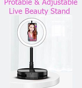 Live beauty selfie stand