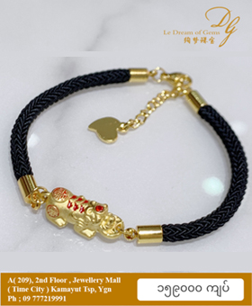 999 Gold 3D Pixiu Bracelet S1
