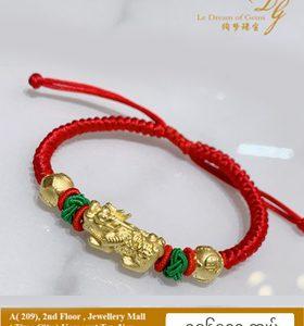 999 Gold 3D Pixiu Bracelet S11