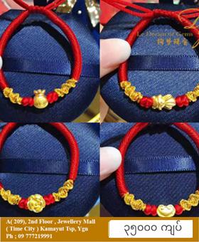 999 Gold 3D Pixiu Bracelet S8