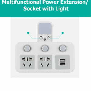 Multifunctional Power Extension with Light